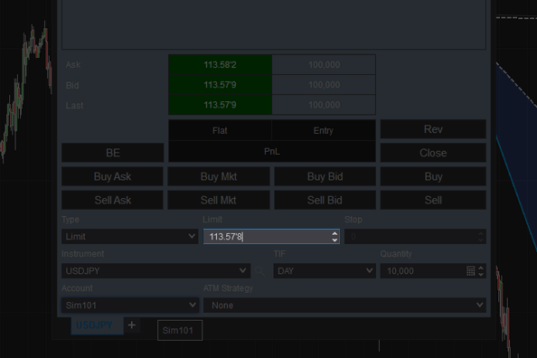 Mouse Button for live market price