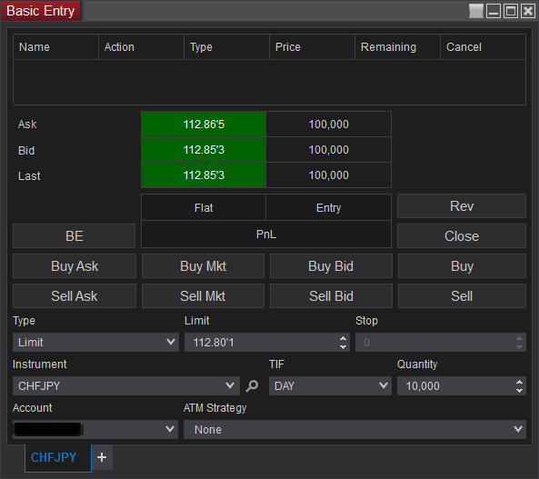 Order Entry and Different Methods in NinjaTrader 8 (2019)